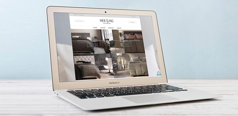 Meierling Betten Neugestaltung Website Homepage