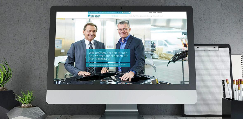 Neugestaltung Website Uniconsult Homepage