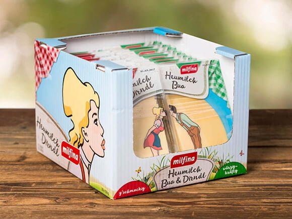 Heumilch Dirndl und Bua Käse Verpackung Neugestaltung Packaging 04