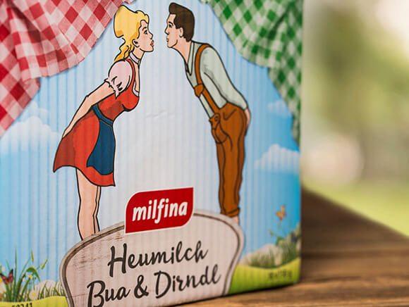 Heumilch Dirndl und Bua Käse Verpackung Neugestaltung Packaging 05
