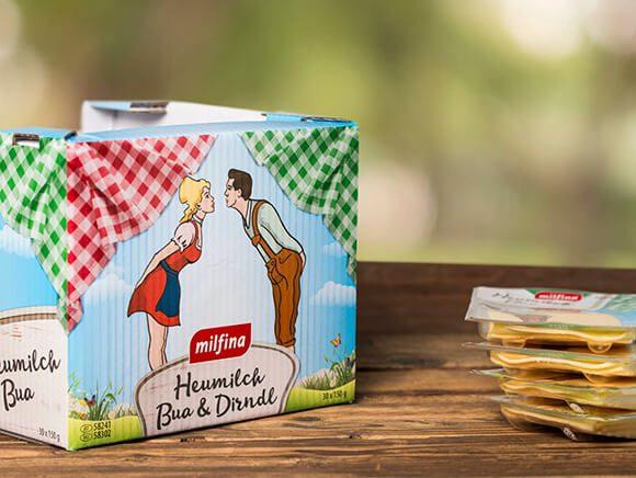 Heumilch Dirndl und Bua Käse Verpackung Neugestaltung Packaging 06
