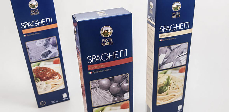 Pasta Nobile Neugestaltung Spaghetti Verpackung 01