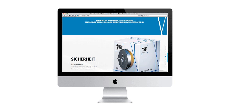 Datenpool Neugestaltung WEB Homepage 01