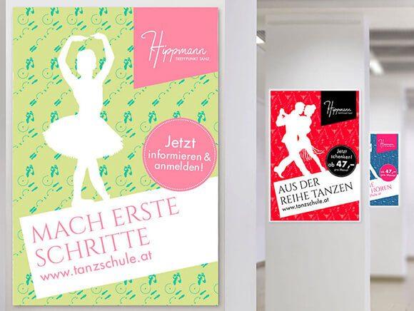 Neugestaltung Hippmann Tanzschule Plakatkampagne