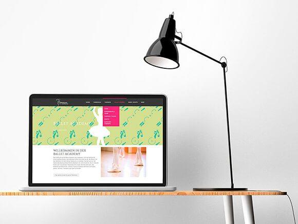 Hippmann Neugestaltung Screendesign Ballett Homepage