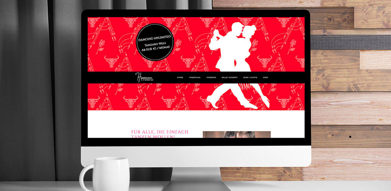 Hippmann Tanzschule Neugestaltung Homepage Screendesign