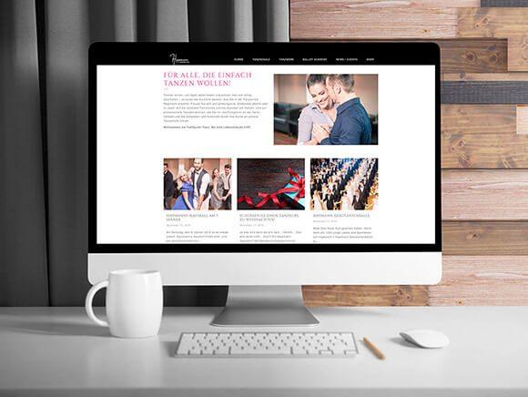 Hippmann Tanzschule Neugestaltung Screendesign News