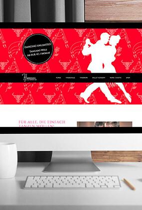 Hippmann Tanzschule Neugestaltung Homepage Screendesign Thumbnail