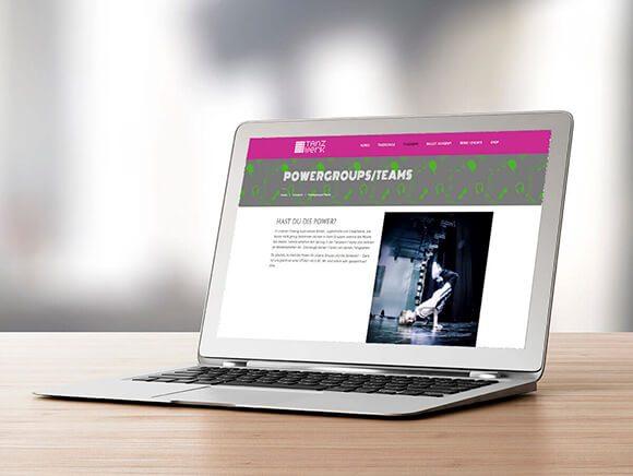 Hippmann_Tanzwerk Neugestaltung Web Screendesign