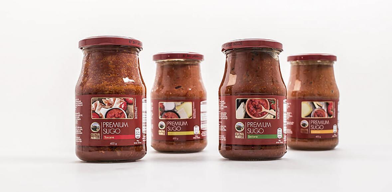 Cucina Nobile Italienisches Sugo Neugestaltung Verpackung