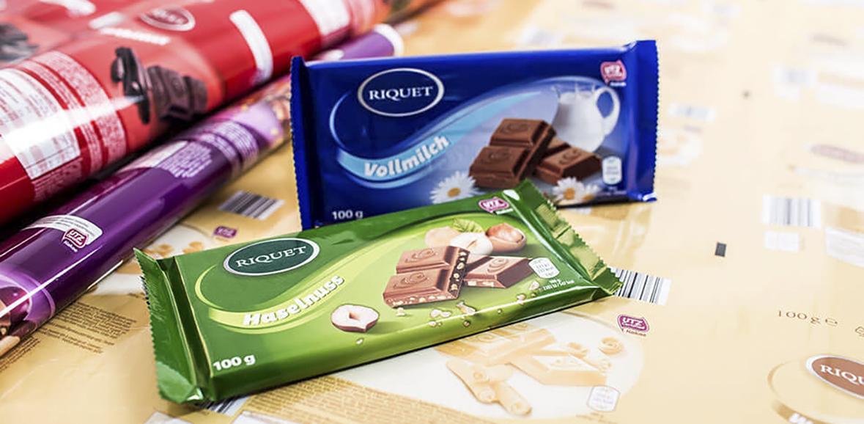 Schokoladetafel Neugestaltung Verpackung