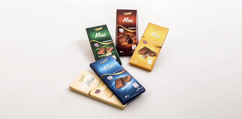 Schokolade 40 g Neugestaltung Verpackung