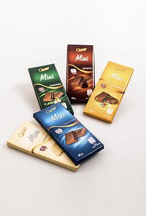 Schokolade 40 g Neugestaltung Verpackung thumbnail