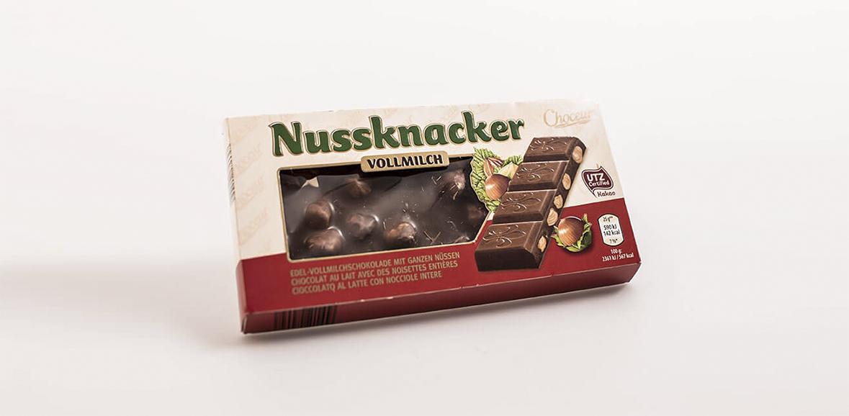 Nuss Schokolade Verpackung Neugestaltung