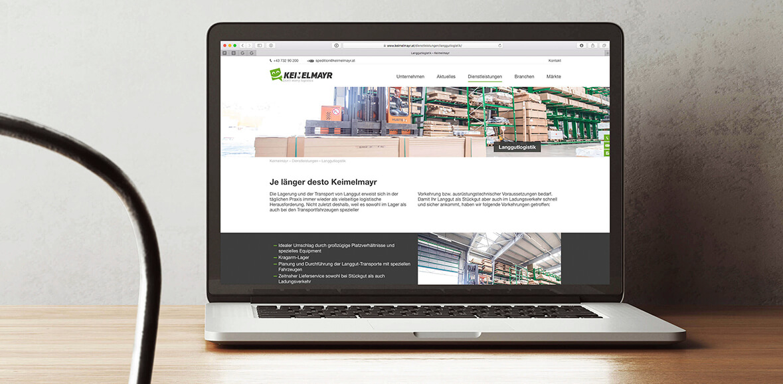 Neugestaltung Website Keimelmayr 01