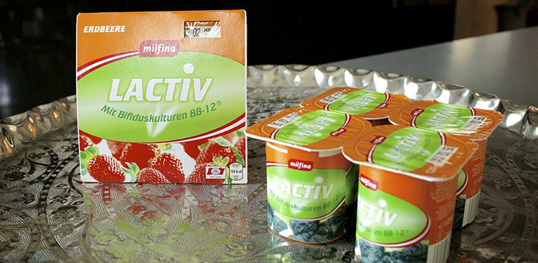 Verpackung Probiotisches Joghurt