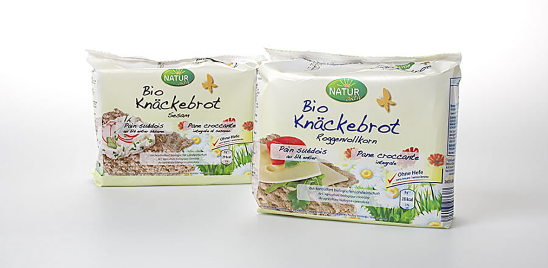 Verpackungsdesign Bio Knaeckebrot