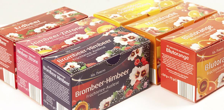 Verpackungsdesign Früchtetee Auslese