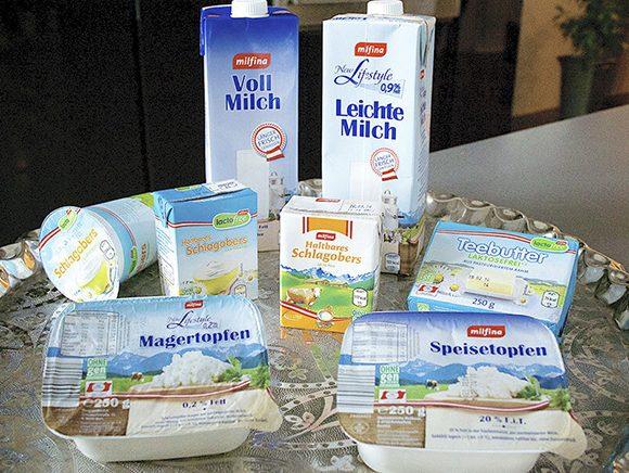 Verpackungsdesign Milchprodukte Leichte Linie 01