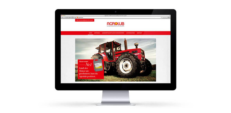 Agrolub iMac Neugestaltung Web Homepage Online Marketing