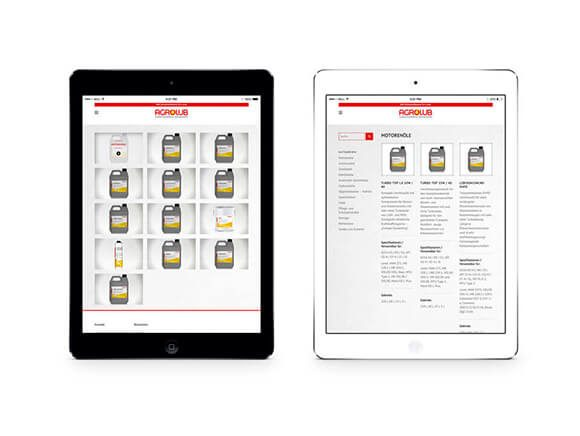 Agrolub iPad Neugestaltung Web Online Marketing