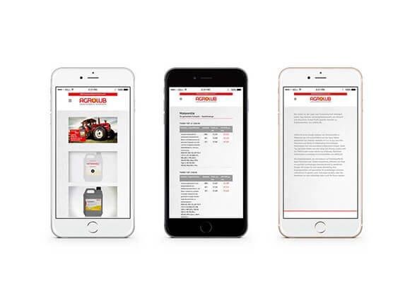 Agrolub iPhone Neugestaltung Web Online Marketing Smartphone