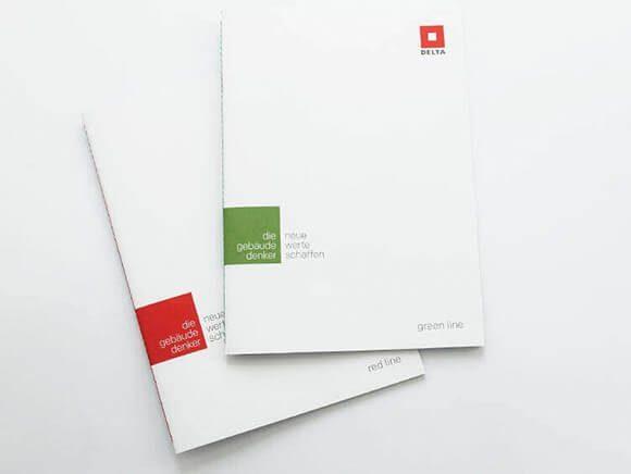 Markenkommunikation Delta Folder Green Line 07