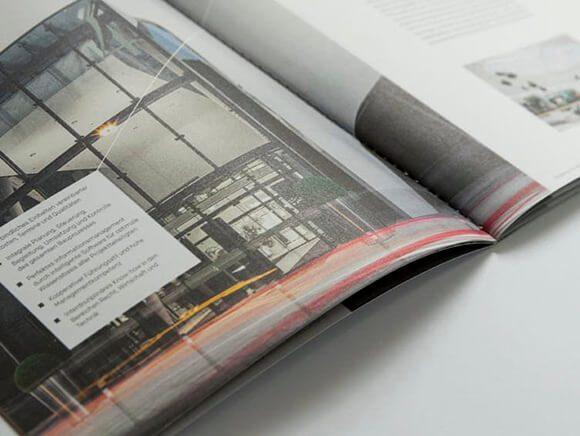 Markenkommunikation Delta Folder Green Line Doppelseite 11