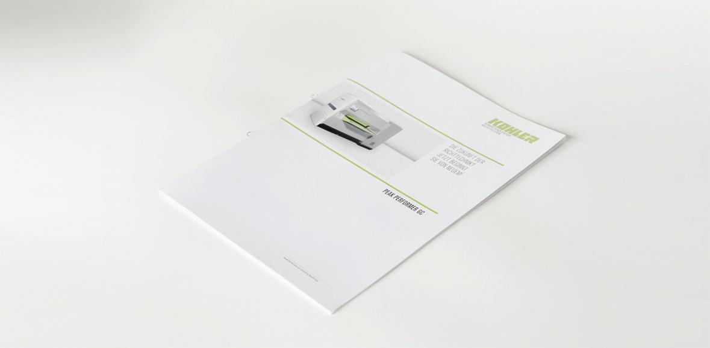 Kohler Maschinenbau Markenauftritt Folder Titelseite Detail 04