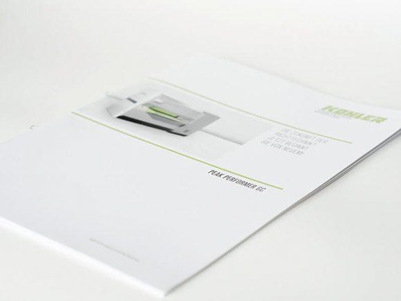 Kohler Maschinenbau Markenauftritt Folder Titelseite Detail 05
