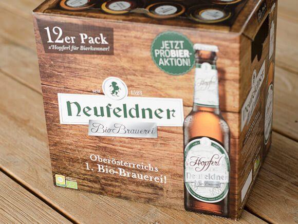 Neufeldner Biobrauerei Bier 12er Pack Bio Packaging Design 01