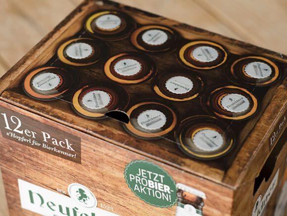 Neufeldner Biobrauerei Bier 12er Pack Bio Packaging Design 02