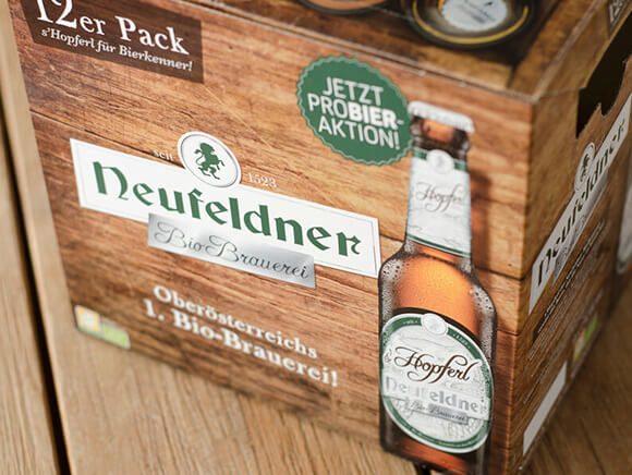 Neufeldner Biobrauerei Bier 12er Pack Bio Packaging Design 03
