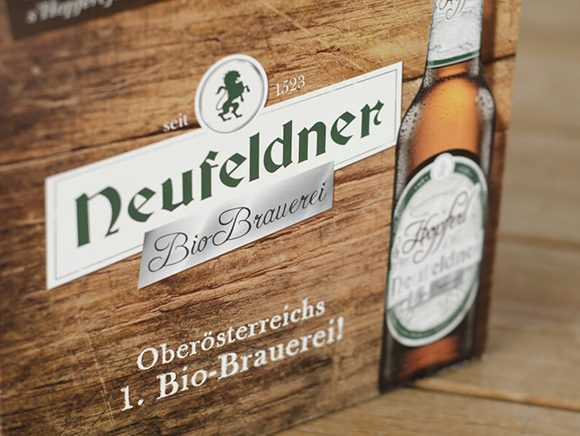 Neufeldner Biobrauerei Bier 12er Pack Bio Packaging Design 06