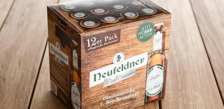 Neufeldner Biobrauerei Bier 12er Pack Bio Packaging Design 05