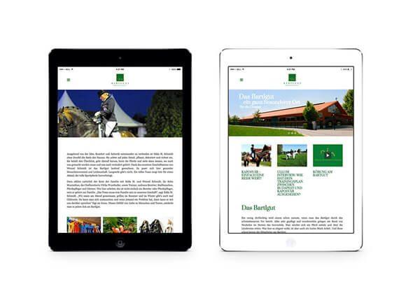Batlgut iPad WEB Neugestaltung