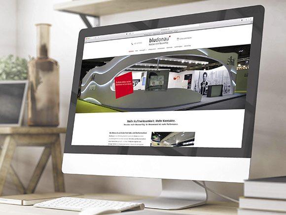 Neugestaltung Website bludonau homepage