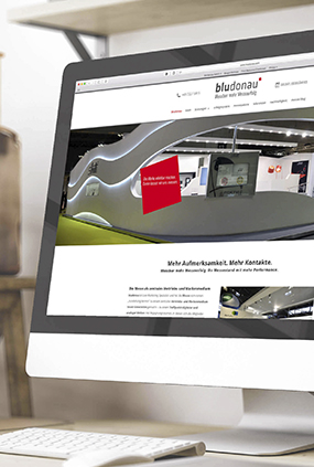Neugestaltung Website bludonau homepage thumbnail