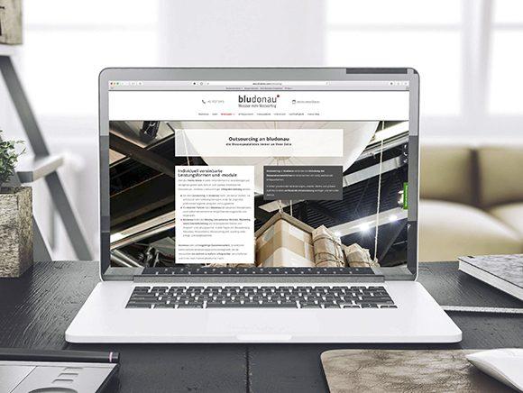 Neugestaltung Website bludonau outsourcingseite