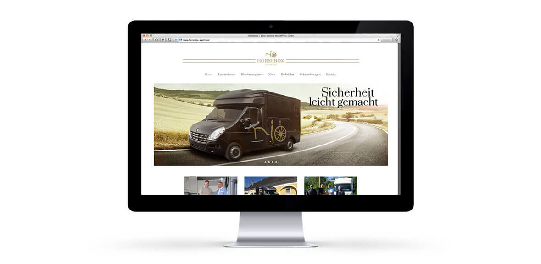 Horsebox iMac Neugestaltung Web Homepage