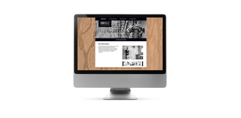 Inholz Website Neugestaltung Online Marketing iMac 01