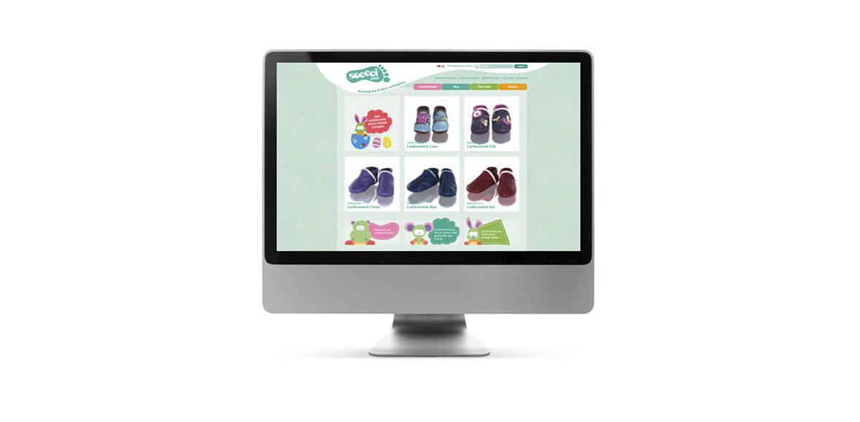 Soccci Neugestaltung Website Onlineshop Online Marketing iMac 01