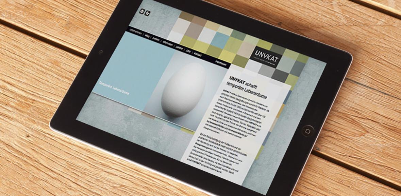 Unykat Website Neugestaltung 06 iPad