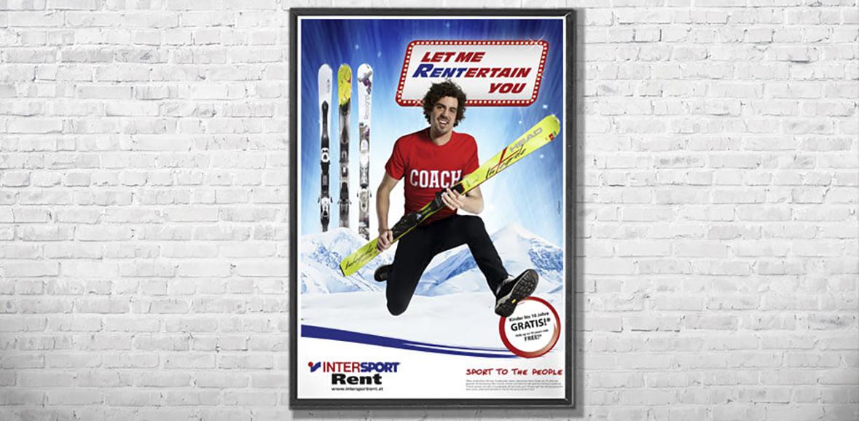 Plakat Montage weiss hoch Intersport Rent Kampagnesujet 01