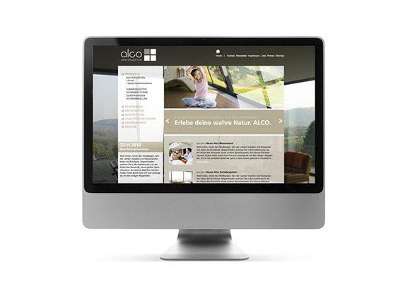 Alco Wintergärten Website Neugestaltung Homepage 01