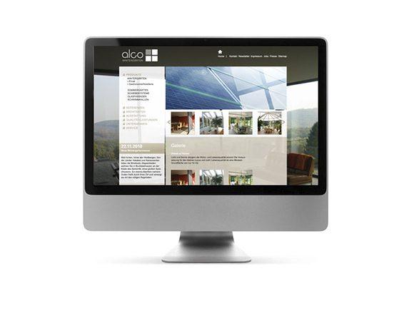 Alco Wintergärten Website Neugestaltung Homepage 02