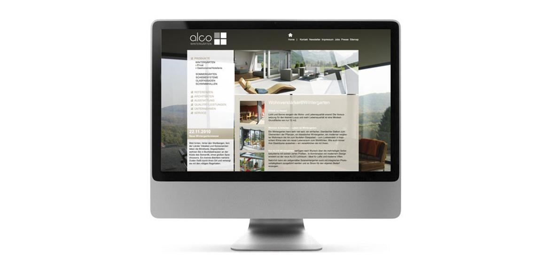 Alco Wintergärten Website Neugestaltung Homepage 03