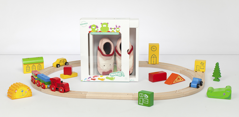Packaging Design fuer Kinderschuhe