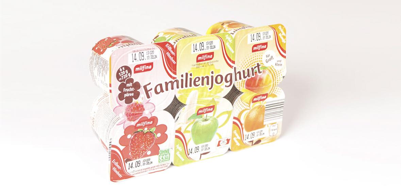 Verpackungsdesign Familienjoghurt