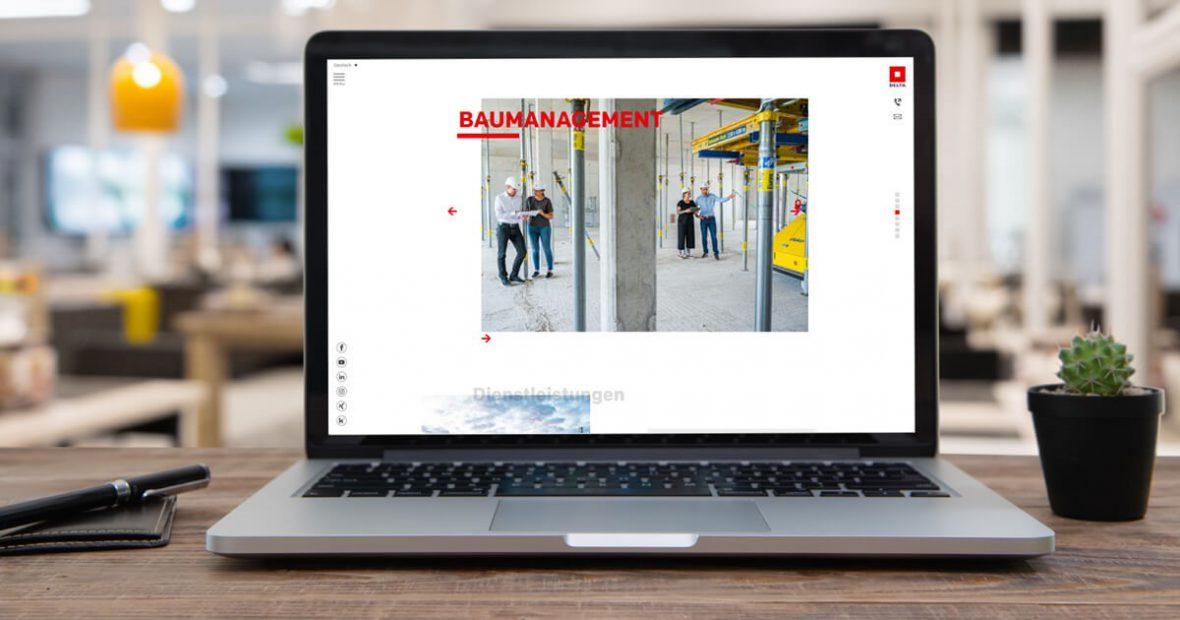 Delta Webseite